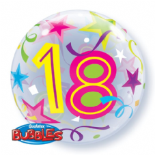 18th Brilliant Stars Bubble Balloon